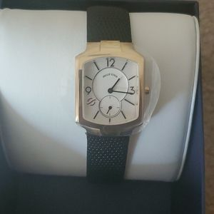 Philip stein classic watch mother of pearl leather